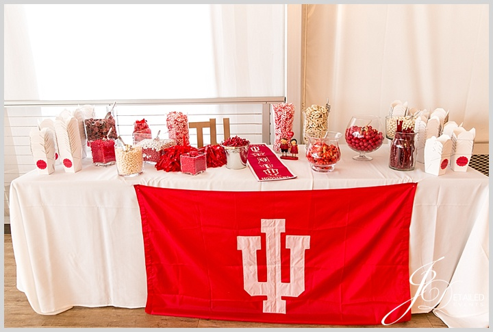 A College Candy Bar - JDetailed Events Chicago Wedding